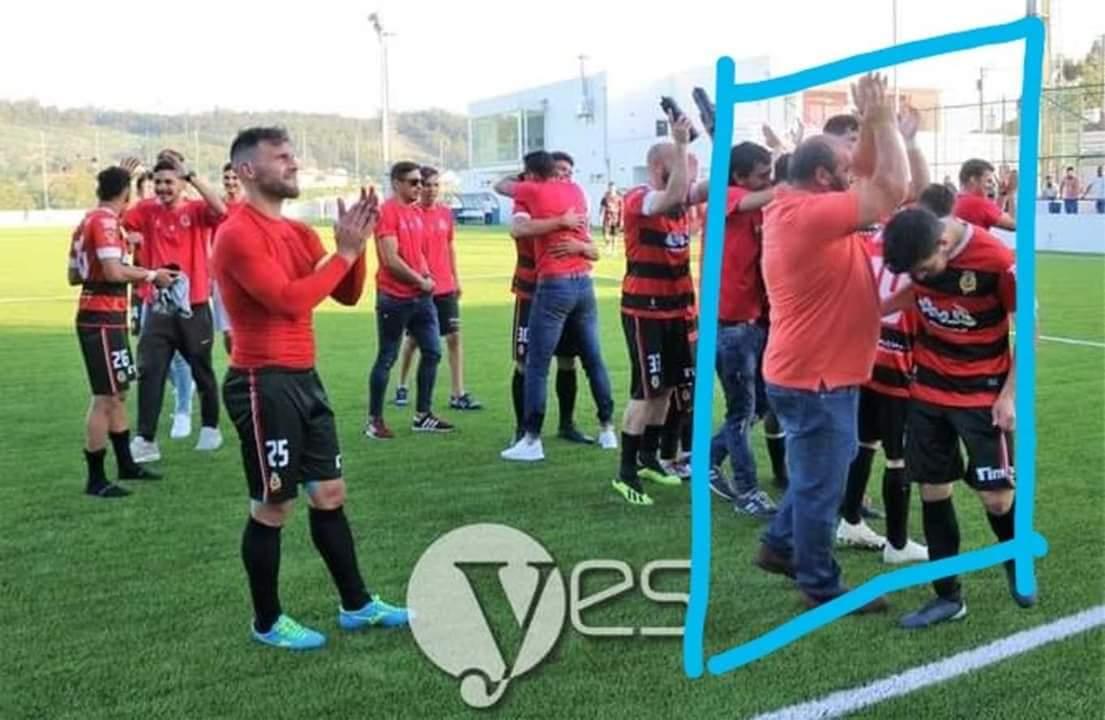 """Insólito na AF Porto: Um dos fiscais de linha """"apanhado"""" a festejar com clube que arbitrou (actualizada)"""