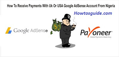 Receive Payment From USA Or Uk Google AdSense