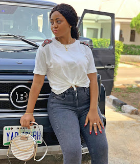 Teen Actress, Regina Daniels Shows Her New Car