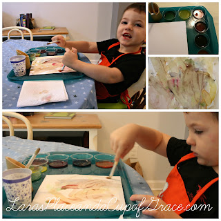 Glob paint, homeschool art, glob paint review