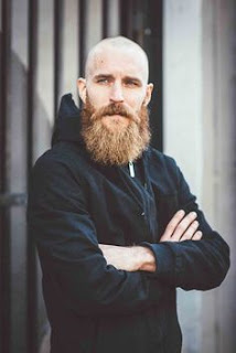Bald Men with Full Beard Style
