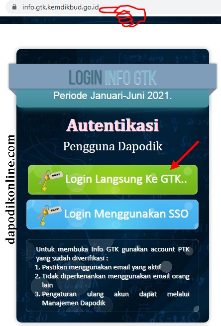 Cara Masuk Info Gtk : masuk, DapodikOnline.Com_Panduan, Aplikasi, Pendidikan, Untuk, Guru,, Operator, Sekolah,, Tenaga, Kependidikan
