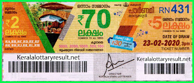 kerala lottery kl result, yesterday lottery results, lotteries results, keralalotteries, kerala lottery, (keralalotteryresult.net), kerala lottery result, kerala lottery result live, kerala lottery today, kerala lottery result today, kerala lottery results today, today kerala lottery result, Pournami lottery results, kerala lottery result today Pournami, Pournami lottery result, kerala lottery result Pournami today, kerala lottery Pournami today result, Pournami kerala lottery result, live Pournami lottery RN-431, kerala lottery result 23.02.2020 Pournami RN 431 23 January 2020 result, 23 02 2020, kerala lottery result 23-02-2020, Pournami lottery RN 431 results 23-02-2020, 23/02/2020 kerala lottery today result Pournami, 23/02/2020 Pournami lottery RN-431, Pournami 23.02.2020, 23.02.2020 lottery results, kerala lottery result January 23 2020, kerala lottery results 23th January 2020, 23.02.2020 week RN-431 lottery result, 23.02.2020 Pournami RN-431 Lottery Result, 23-02-2020 kerala lottery results, 23-02-2020 kerala state lottery result, 23-02-2020 RN-431, Kerala Pournami Lottery Result 23/02/2020 KeralaLotteryResult.net