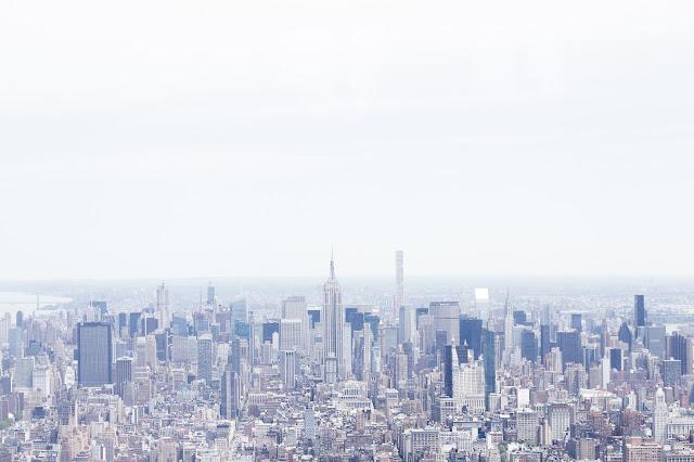 NYC vistas panorámicas desde el worl trade observatory