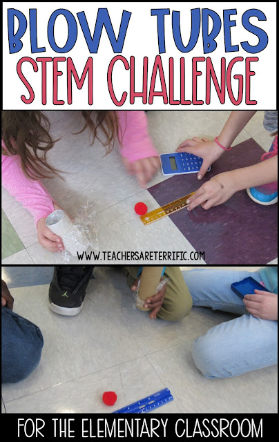 STEM Challenge Marshmallow Blow Tubes for a hands-on activity for Newton's Second Law of Motion!