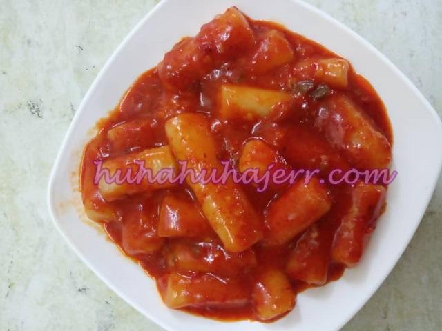 Resepi Tteokbokki a.k.a Topokki Makanan Korea Popular Terlajak Sedap