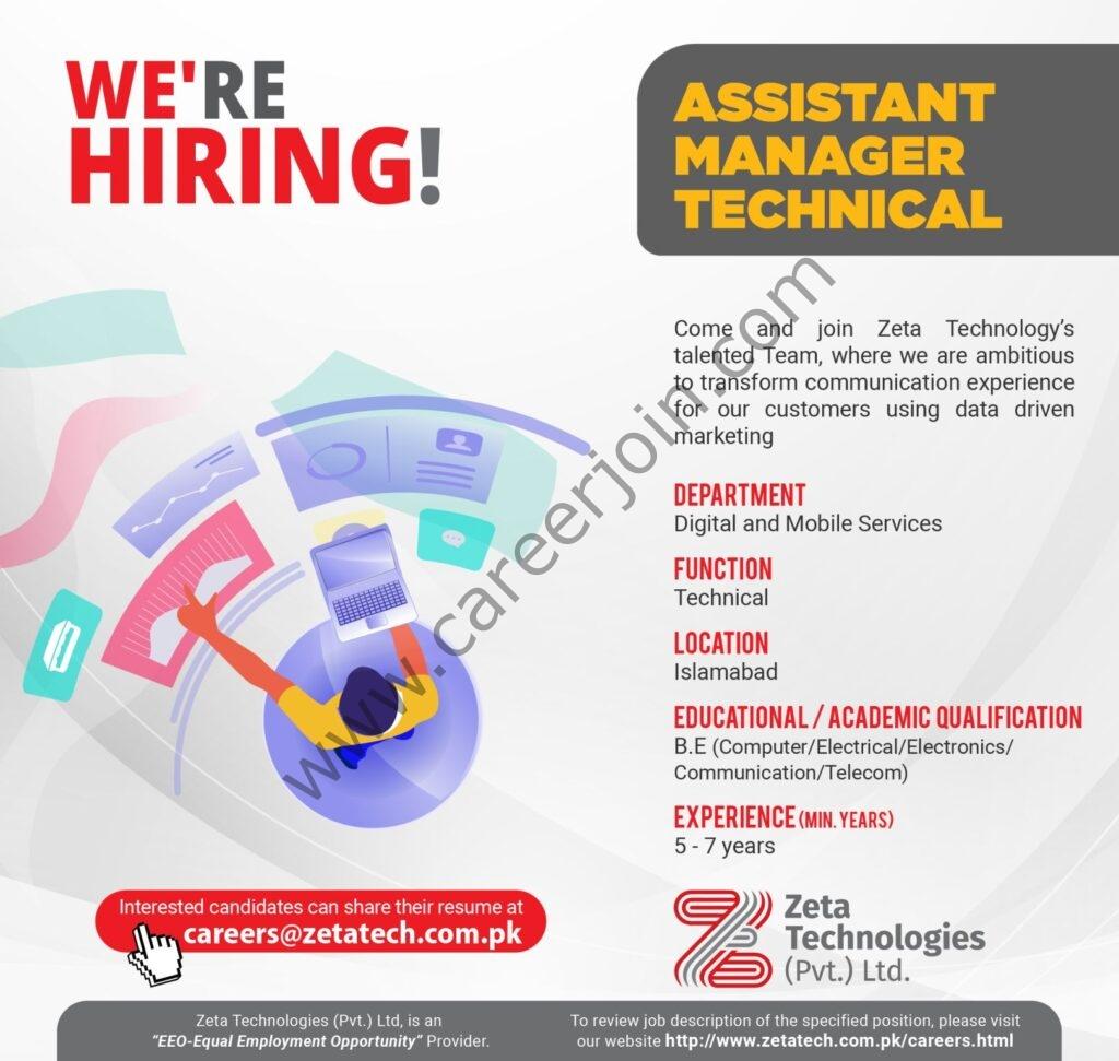 careers@zetatech.com.pk - Zeta Technologies Pvt Ltd Jobs 2021 in Pakistan