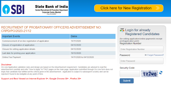 SBI PO 2020 Notification Out: Apply for 2000 Posts
