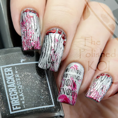 Firecracker Lacquer Don't Be So Dire Wolf Valyrian Steel Nail Art