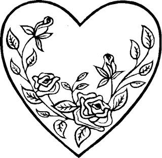 מסגרות לב לצביעה