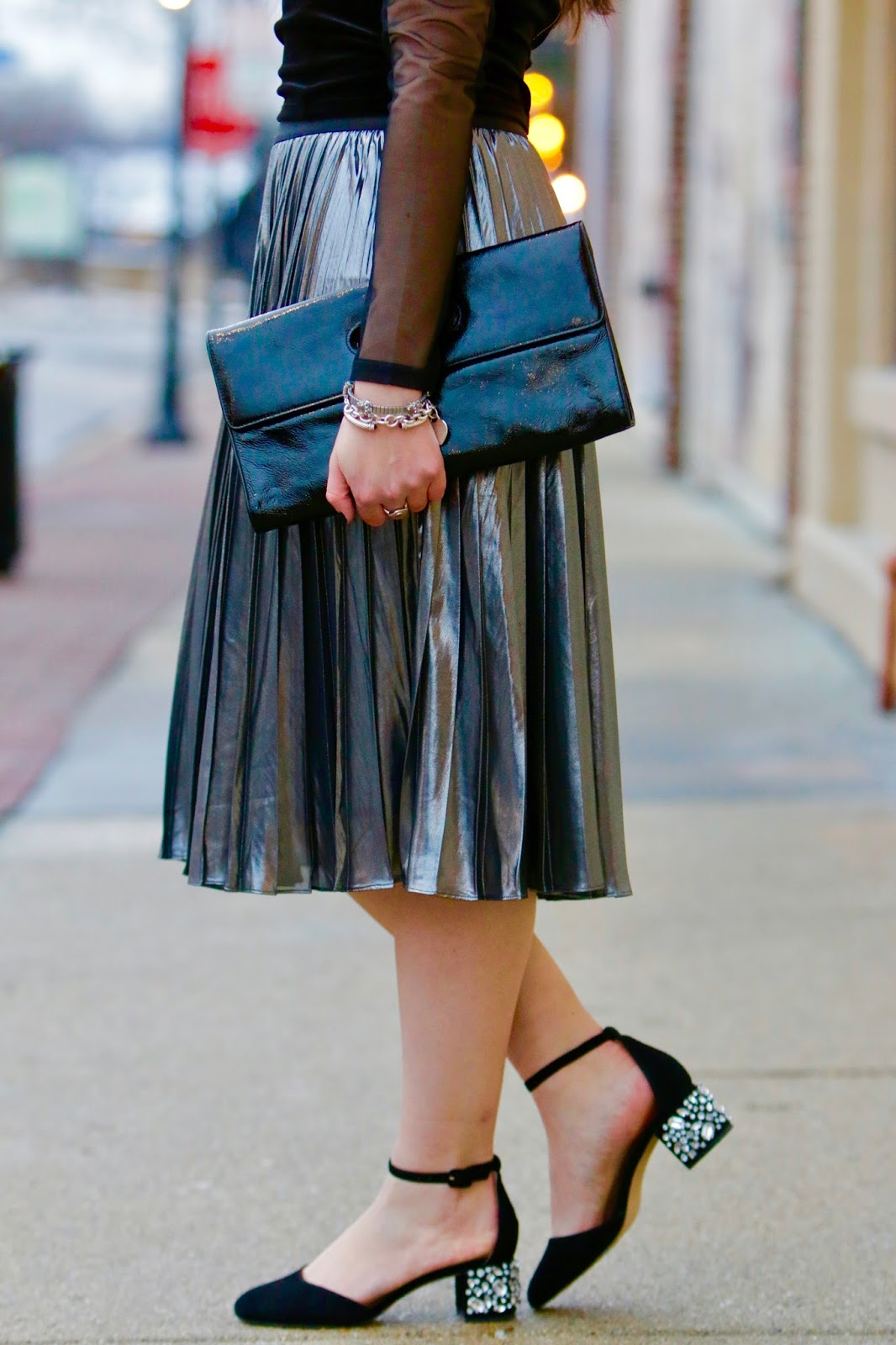 express metallic skirt