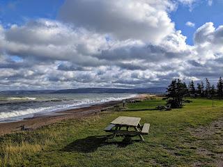 Bench At Cabots Landing Provincial Park, Cape Breton Island