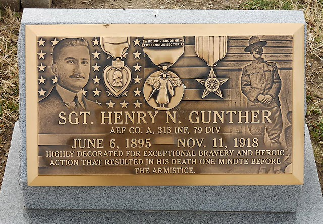 Muerte del sargento Gunther en el último minuto de la Gran Guerra, hace cien años