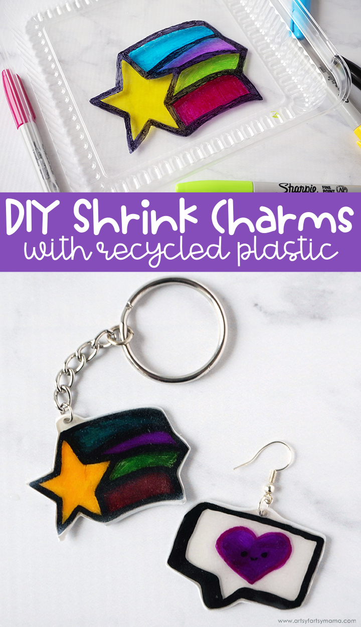 DIY Shrink Charms with Recycled Plastic