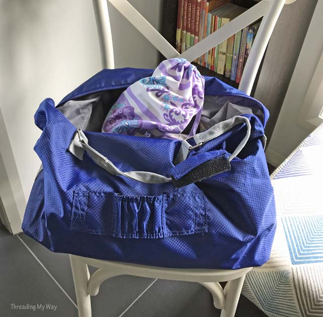 Drawstring travel bags made from an old sheet ~ Threading My Way