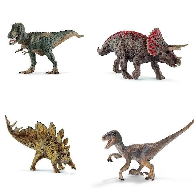 Schleich Tyrannosaure Rex - Tricératops  Stégosaure - Vélociraptor