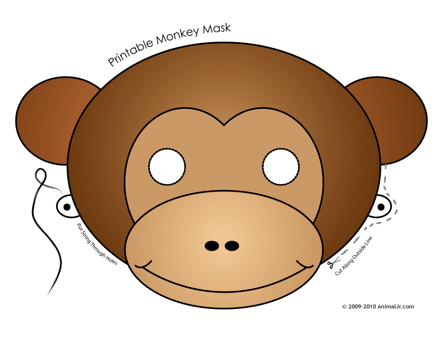 monkey face template for cake - monkey mask template
