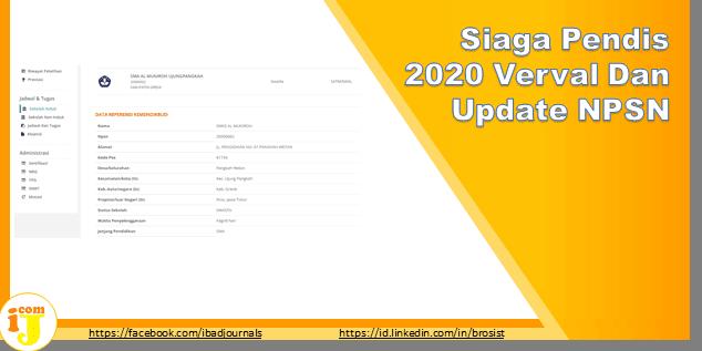 Siaga Pendis 2020 Verval Dan Update NPSN