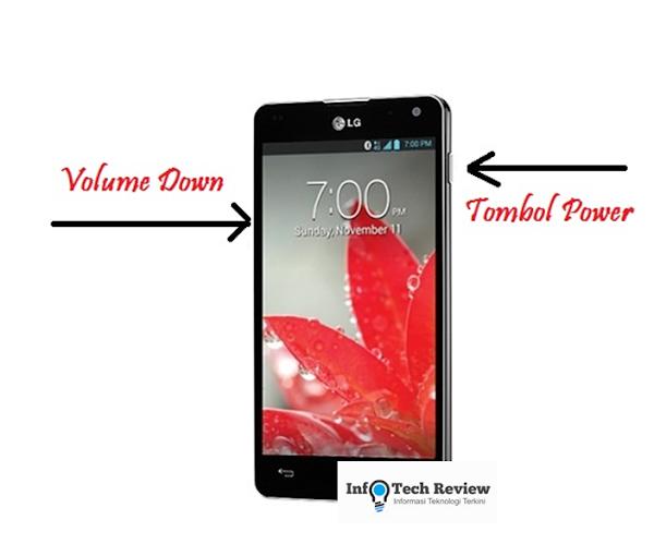 Cara Screen Shoot Layar Android LG