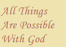 All things are possible with Christ