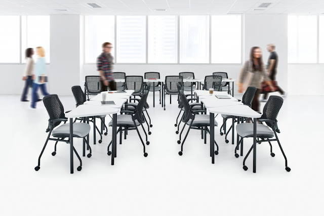 zook straight line collaborative table configuration