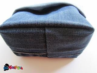fondo del cestino di jeans