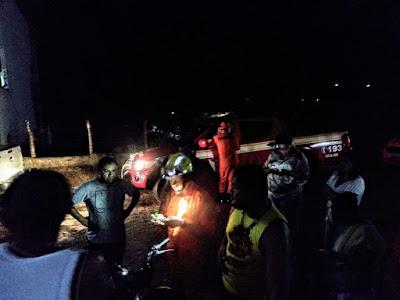 Em Pão de Açúcar, após 08 horas, garotos que se perderam às margens do Riacho Farias, são encontrados pelo corpo de bombeiros