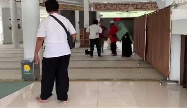 Wanita Pembawa Anjing ke Masjid Resmi Tersangka