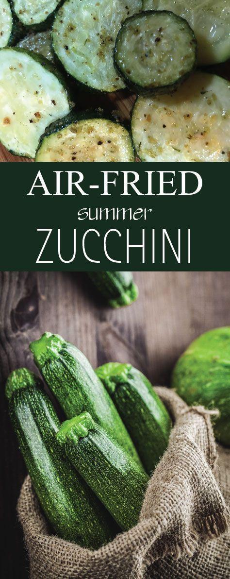 Easy Air-Fried Roasted Summer Zucchini