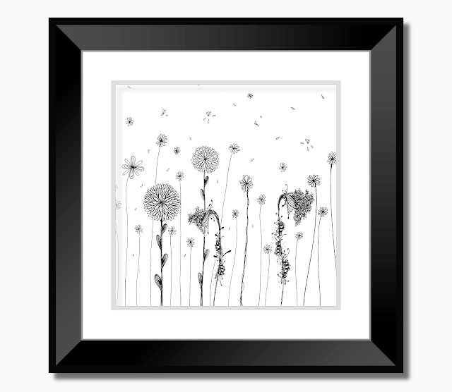 Garden Of Daisies Doodle Art