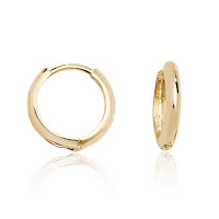 Men's Gold Huggie Hoops