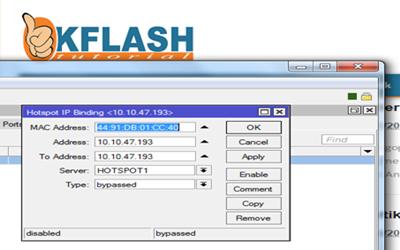 Bypass User Hotspot Mikrotik Dengan MAC Address
