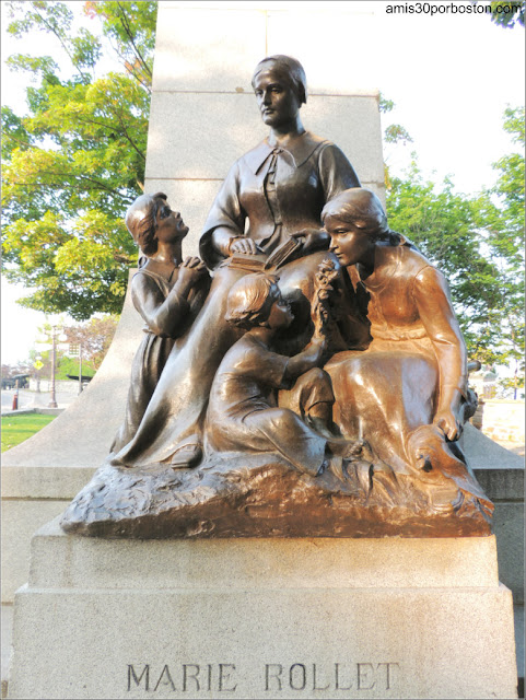 Monumento a Louis Hébert en el Parc Montmorency en la Ciudad de Quebec
