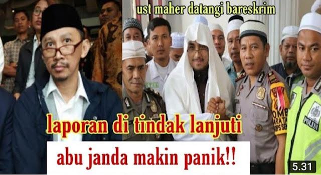 Laporan Ustadz Maaher Ditindaklanjuti, Abu Janda Makin Panik !!