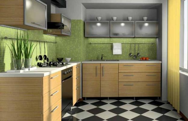 Tak Hanya Cat Dinding Saja Namun Pemilihan Keramik Untuk Lantai Juga Harus Tepat Dapur Yang Berukuran Kecil Maka Pilih Bercorak Warna Kayu
