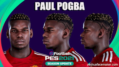 PES 2021 Faces Paul Pogba by Yeshua