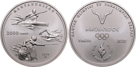 Hungary 2,000 forint 2021 - XXXII Olympiad and XVI Paralympic Games