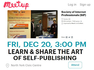 meetup: Society of Internet Professionals Art of Self-Publishing