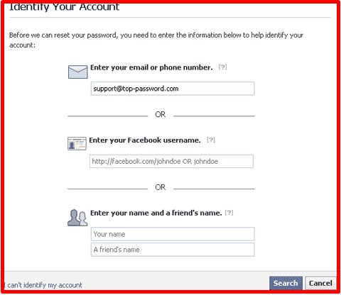 how to get a facebook password