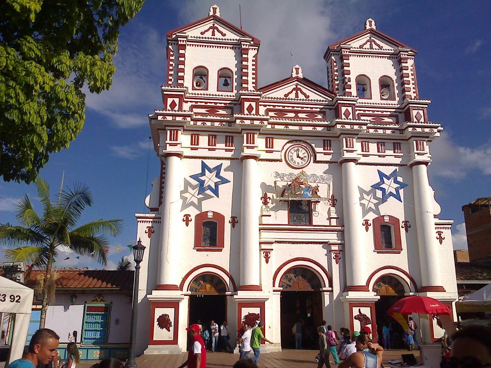 Kerk dichtbij Medellin in Colombië