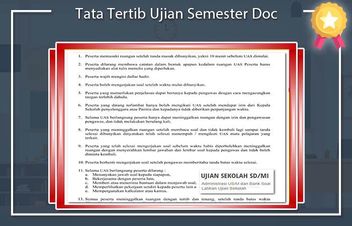 Tata Tertib Ujian Semester Doc