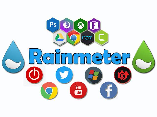 تحميل وتثبيت البرنامج الرائع rainmeter لتزيين سطح المكتب