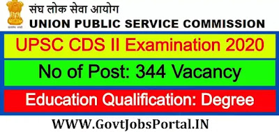 UPSC CDS (II) Notification 2020 Out: Latest 344 Govt Jobs in India