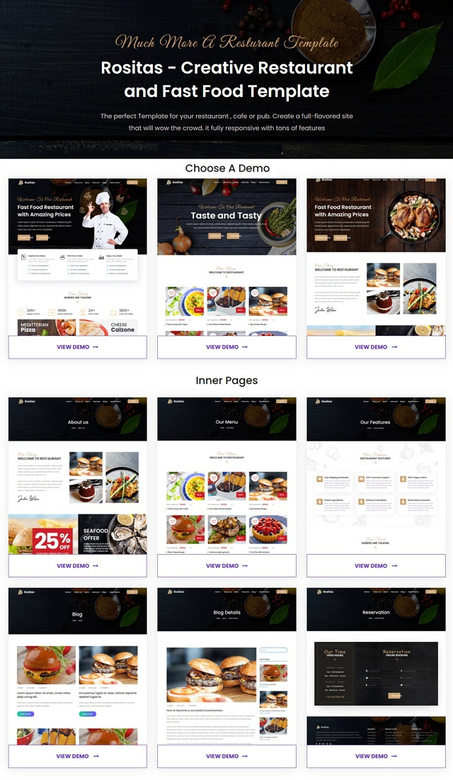 Download Restaurant and Fast Food Template
