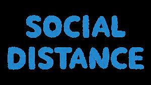 「SOCIAL DISTANCE」のマーク