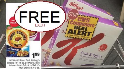 FREE Kellogg's Cereal at CVS 1/12-1/18