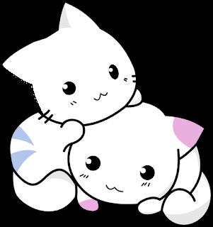 Gambar kucing kartun yang lucu