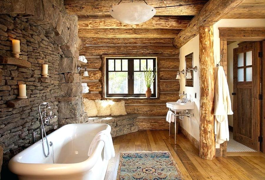 Cozy Rustic Bathrooms with natural Stone Walls | Art Home Design Ideas