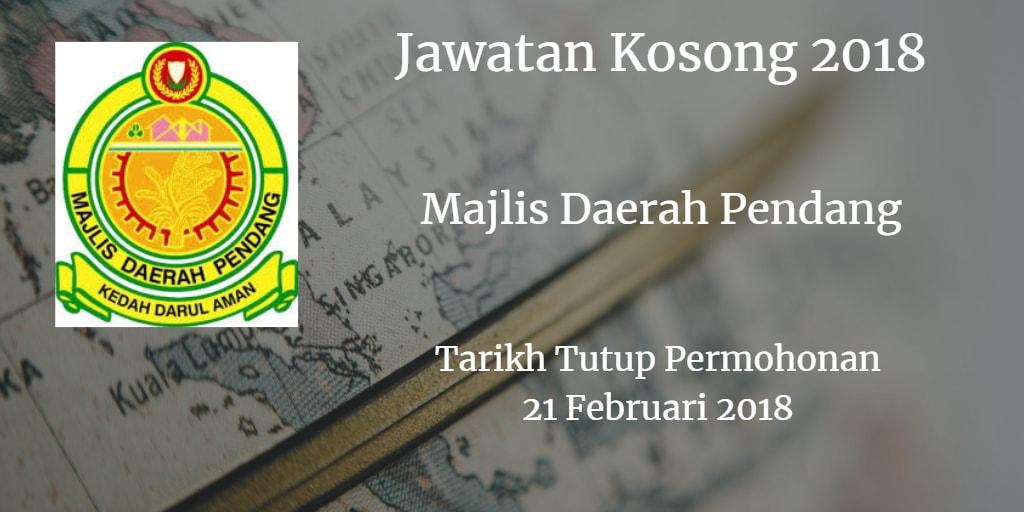Jawatan KosongMDPendang 21 Februari 2018