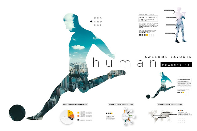 Human Premium PowerPoint Template Updates + SVG Color Font Cover